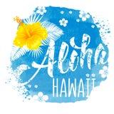 Lettrage d'Aloha Hawaii Photo libre de droits