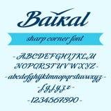 Lettrage d'alphabet de Baikal Fonte de vecteur Photographie stock
