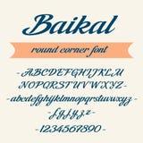 Lettrage d'alphabet de Baikal Fonte de vecteur Photographie stock libre de droits