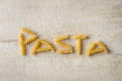 Lettrage d'amour de pâtes Image libre de droits