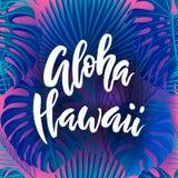 Lettrage de brosse d'Aloha Hawaii Image stock