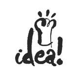 Lettrage de calligraphie d'idée Photographie stock libre de droits
