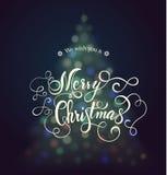 Lettrage de carte de Noël Images libres de droits