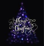 Lettrage de carte de Noël Photo libre de droits
