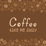 Lettrage de conception de café. Menu pour le restaurant, café Image stock
