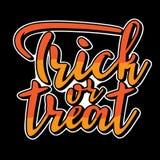 Lettrage de des bonbons ou un sort pour la partie de Halloween Photos stock