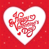 Lettrage de jour de valentines Photographie stock libre de droits