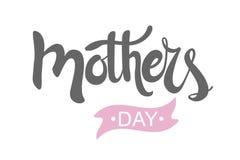 Lettrage de jour du ` s de mère Carte de jour du ` s de mère Illustration de vecteur D'isolement sur le fond blanc illustration stock