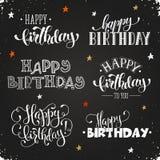 Lettrage de joyeux anniversaire Photos libres de droits
