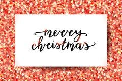 Lettrage de Joyeux Noël illustration stock