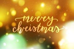 Lettrage de Joyeux Noël illustration de vecteur
