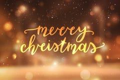 Lettrage de Joyeux Noël illustration libre de droits