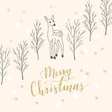 Lettrage de Joyeux Noël Photographie stock libre de droits