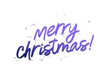 Lettrage de Joyeux Noël Carte de cadeau mignonne illustration libre de droits