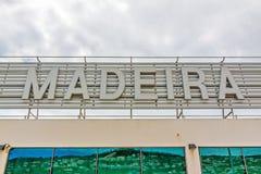 Lettrage de la Madère à l'aéroport Photos libres de droits