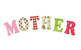 Lettrage de mère des lettres de papier fait main Images stock
