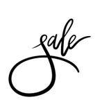 Lettrage de main de vente Calligraphie moderne Photo stock