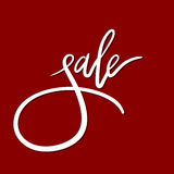Lettrage de main de vente Calligraphie moderne Image stock