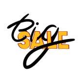 Lettrage de main de vente Calligraphie moderne Images stock