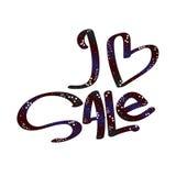 Lettrage de main de vente Calligraphie moderne Photos stock