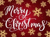 Lettrage de manuscrit d'écriture de Joyeux Noël Salutation de Noël illustration de vecteur