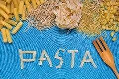 Lettrage de nourriture de pâtes Photo stock