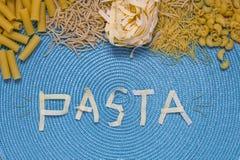 Lettrage de nourriture de pâtes Image stock
