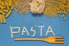 Lettrage de nourriture de pâtes Photo libre de droits