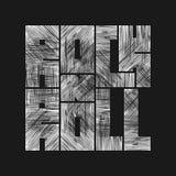 Lettrage de petit pain de la roche n avec l'effet grunge Conception de mode de T-shirt Images stock