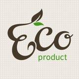 Lettrage de produit d'Eco Images libres de droits