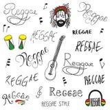 Lettrage de reggae Photographie stock libre de droits