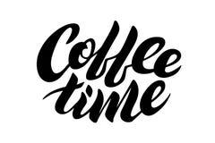 Lettrage de temps de café Photo stock