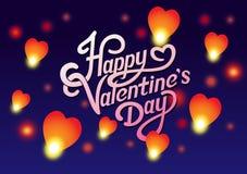 Lettrage de Valentine Day Photographie stock libre de droits