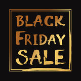 Lettrage de vecteur écrit par main de vente de Black Friday Image libre de droits