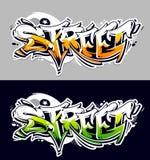 Lettrage de vecteur de graffiti de rue Photo libre de droits