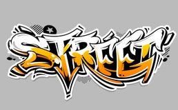 Lettrage de vecteur de graffiti de rue Photographie stock libre de droits
