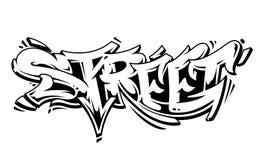 Lettrage de vecteur de graffiti de rue Photo stock