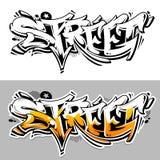 Lettrage de vecteur de graffiti de rue Image stock