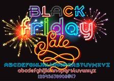 Lettrage de vente de Black Friday Illustration Stock