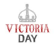 Lettrage de Victoria Day illustration libre de droits