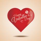 Lettrage de vintage de jour de valentines Images stock