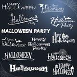 lettrage différent de Halloween Image stock