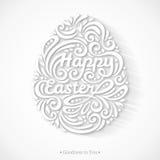 Lettrage heureux abstrait de Pâques sous la forme d'oeuf Images libres de droits