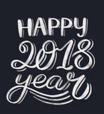 Lettrage heureux de 2018 ans Photographie stock