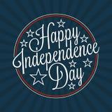 Lettrage heureux de Jour de la Déclaration d'Indépendance Image stock
