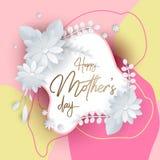 Lettrage heureux de jour de mères Photos libres de droits