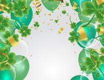 Lettrage heureux de jour du ` s de St Patrick de célébration sur l'obscurité de scintillement illustration libre de droits