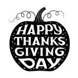 Lettrage heureux de jour de thanksgiving Image libre de droits