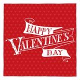 Lettrage heureux de main du jour de valentine Photographie stock