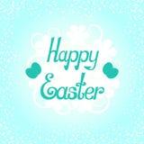 Lettrage heureux de Pâques Photo stock